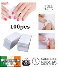 100PCS Lint Free Nail Wipes Nail Polish Remover Pads Soak Off UV Gel Paper Tool