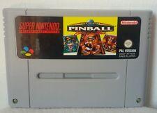 SUPER PINBALL BEHIND THE MASK - Super Nintendo Nes Snes Famicom - PAL - NOE