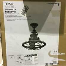 "Home Decorators Bentley Ii 18""Tarnished Bronze Oscillating Ceiling Fan New Other"