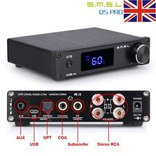 SMSL Q5 Pro Pure Digital HiFi Amplifier AMP USB Coaxial Optical Audio Power New