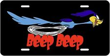 THE ROADRUNNER BEEP! BEEP!  BLACK NOVELTY VANITY LICENSE PLATE MADE IN U.S.A.
