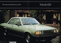 1981 MAZDA 626 Sales Brochure / Catalog: LUXURY SPORT COUPE / SEDAN