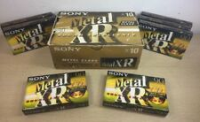 Lot of 7 Sony Metal XR-90 Cassette Tapes in Box Blank Sealed In Plastic