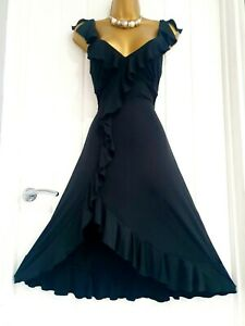 JANE NORMAN size 10 stretch bodycon black dress little black dress evening party