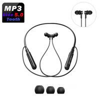 Sport Wireless Bluetooth Ear Phones Magnet Mikrofon Kopfhörer Headset Schwarz DE