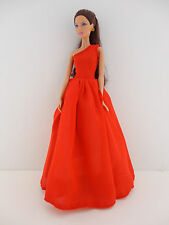 A Flawless Stunning One Shouldered Gown in Red Made to Fit the Barbie Doll