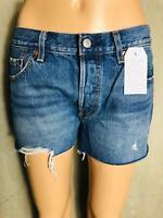 LEVIS - Jeansshorts blau ausgefranst Shorts Hotpants 501 NEU Gr. 27 W27 1184ma
