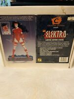 *NIB* ELEKTRA Statue Figurine Marvel Comics 1996 Creative License Daredevil Red