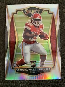 2020 Select Football Clyde Edwards-Helaire Rookie Silver Prizm Premier Level 💎