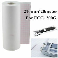 210mm*20meter,Recording Paper Thermal Printer paper for ECG EKG Machine ECG1200G