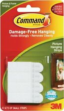 3M Command™ Small Picture & Mirror Hanging Strips 4 pairs of strips holds 1.8KGs