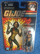 FOIL CARDED GI JOE 25TH ANNIVERSARY FIGURE  COUNTER INTELLIGENCE SCARLETT