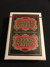 Sealed Black Atlantic City Golden Nugget Playing Cards Rare