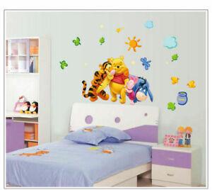 Winnie Pooh und Freunde Tigger XXL Spielzimmer Wandtattoo Wandaufkkeber 25tlg