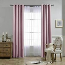 Blackout Curtains Living Room Bedroom Window Blinds Finished Drapes Modern Blac