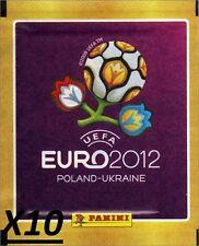 10 Pochettes Panini Euro 2012 Poland Ukraine - NEUVES