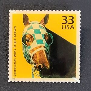 Secretariat USPS Stamp Lapel Pin - 33 Cents Horseracing Horse Racing Collectible