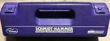 PROCEQ ORIGINAL SCHMIDT N-34 CONCRETE TEST HAMMER w/Case, Instruction Manual