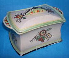 Vintage TYROL- Attractive Lidded Casket Style Floral Inspired Dish (Makers Mark)