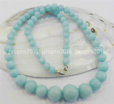 18inches 6-14mm natural blue aquamarine gemstone beads Jewelry Necklaces PN1021