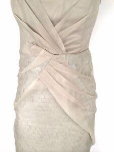 KAREN MILLEN champagne Dress Size 14 BNWT