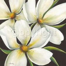 Caroline Wenig: Night Moves Fertig-Bild 70x70 Wandbild Blumen