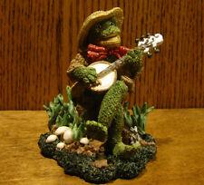 "Ganz Cottage Resin Figurine by Lorraine Chien, #CC2048 GOOD OLE TIME, 4.25"" Frog"