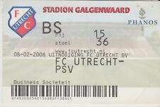 Sammler Used Ticket / Entrada FC Utrecht v PSV Eindhoven 08-02-06