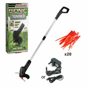Electric Cordless Garden Grass Trimmer Weed Strimmer Cutter Rechargeable Tool