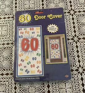 Brand New Door Cover 60th Birthday or Anniversary Decoration For Rescue Charity