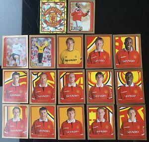 Merlin Premier League 2000 - 17 x Manchester United Stickers - Lot / Bundle