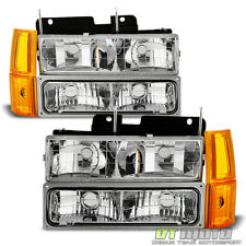 1994-1998 GMC Sierra C/K Pickup Suburban Yukon Headlights+Bumper+Corne Lights