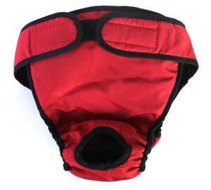 USA SELLER Reusable Washable Dog Diaper RED Female Girl  LARGE Big Dog sz L, XL