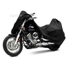XXL Black Motorcycle Cover For Kawasaki Vulcan VN 500 800 900 1500 1600 1700