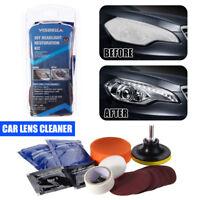 Headlamp Lens Cleaning Restoration Car Motorcycle Headlight Polish Cleaner Kit T