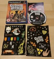 Sony PlayStation 2 PS2 PAL Game Guitar Hero III (3) Legends of Rock & Stickers