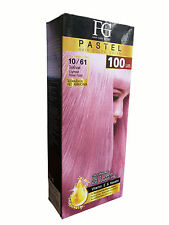 Permanent PASTEL Hair Colour Cream Dye Keratin No Ammonia LIGHT ROSE PINK 100ml