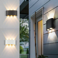 2W 4W 6W 8W LED Up/Down Wall Light IP65 Waterproof Sconce Outdoor Indoor Lamp