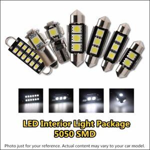 8x Error Free Xenon White Car Interior LED Light Kit For VW Volkswagen Touran