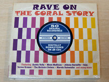 MINT !! Rave On/The Coral Story/2012 2x CD Album/Buddy Holly/Moon Mullican/Tammy