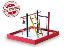 Toy Playground Perch Rope Ladder Parakeet Parrot Bird Gym Stand Play playpen Pet