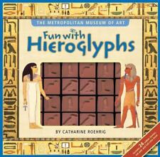 Fun with Hieroglyphs Metropolitan Museum of Art Rubber Stamps Inkpad Book New