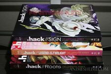 .hack//Sign + Legend of the Twilight + Roots Complete Anime DVD Bundle R1