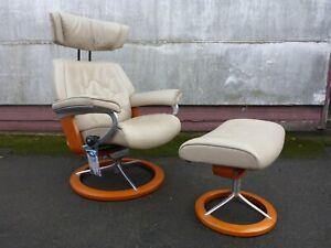 Relax Entpannungs Fernseh Sessel mit Hocker Stressless Ekornes Skyline Signature