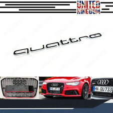 FOR Audi quattro Grill Badge Logo Emblem RS3 RS4 RS6 A3 A4 A5 A6 S3 S4 S5 S line