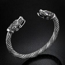 Unisex Antik Silber. Drachen Armspange Wikinger Keltisch Drache Vikinger Armreif
