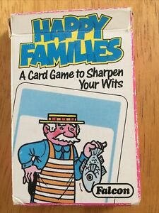 Falcon Happy Families Card Game with Box 1980s 1988