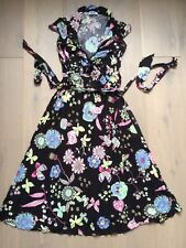 MOSCHINO Cheap And Chic Back Floral V- Neck Dress (UK8) RRP £330