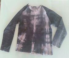 Maglia T shirt manica lunga donna Skelton colore grigio taglia M con zip