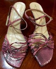 Kate Spade Pink And Gold Strap Heels Size 9